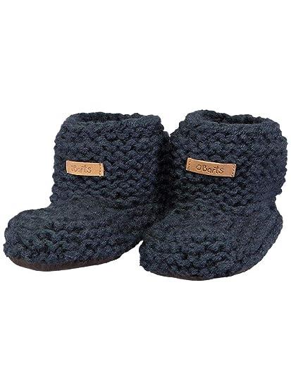 a3d6a63795d8 Barts-Chaussures Naissance en Maille Bleu Marine bébé Fille du 6 au 12 Mois   Amazon.fr  Vêtements et accessoires