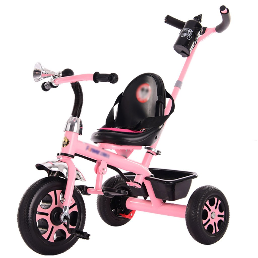 子供用トライク、三輪車の乗り物バイク、赤ちゃんの滑り自転車、おもちゃの自転車、自転車の子供、フットペダルの3つの車輪 (色 : A) B07CZDQLDR A A