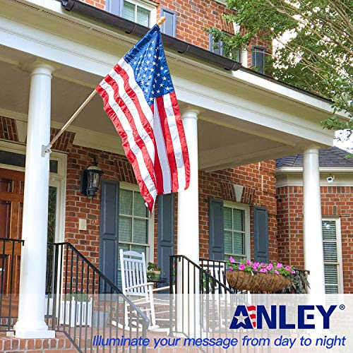 Anley 56'' Pine Wooden House Flag Pole - for Sleeve House Flags (28''x 40'') - Tangle Free Design, Rotating Rings and Anti-Wrap Tube by Anley (Image #2)