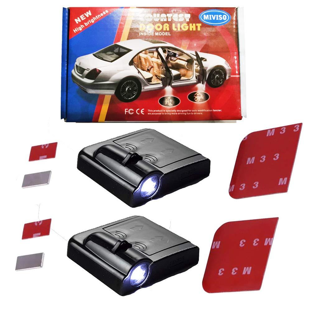 MIVISO 2 St/ück Autot/ür Einstiegsbeleuchtung Projektion T/üreinstiegbeleuchtung Autot/ür Logo Licht Willkommen Projektor Logos Licht Geist Schatten Lampe f/ür Auto