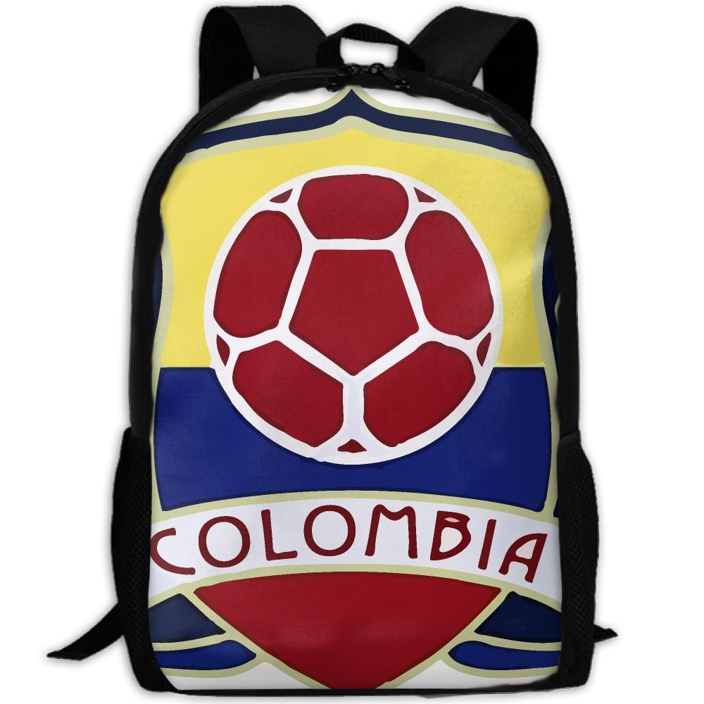 OIlXKV Colombia Soccer Print Custom Casual School Bag Backpack Multipurpose Travel Daypack For Adult by OIlXKV