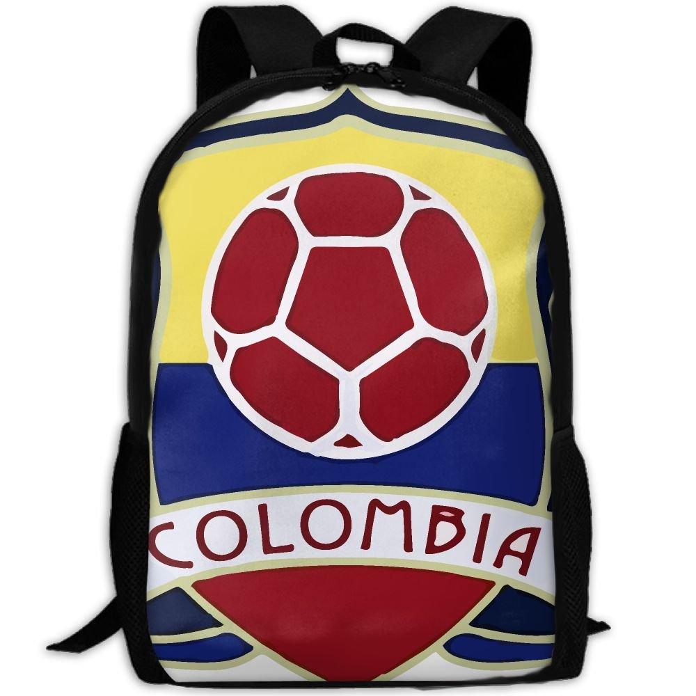 OIlXKV Colombia Soccer Print Custom Casual School Bag Backpack Multipurpose Travel Daypack For Adult