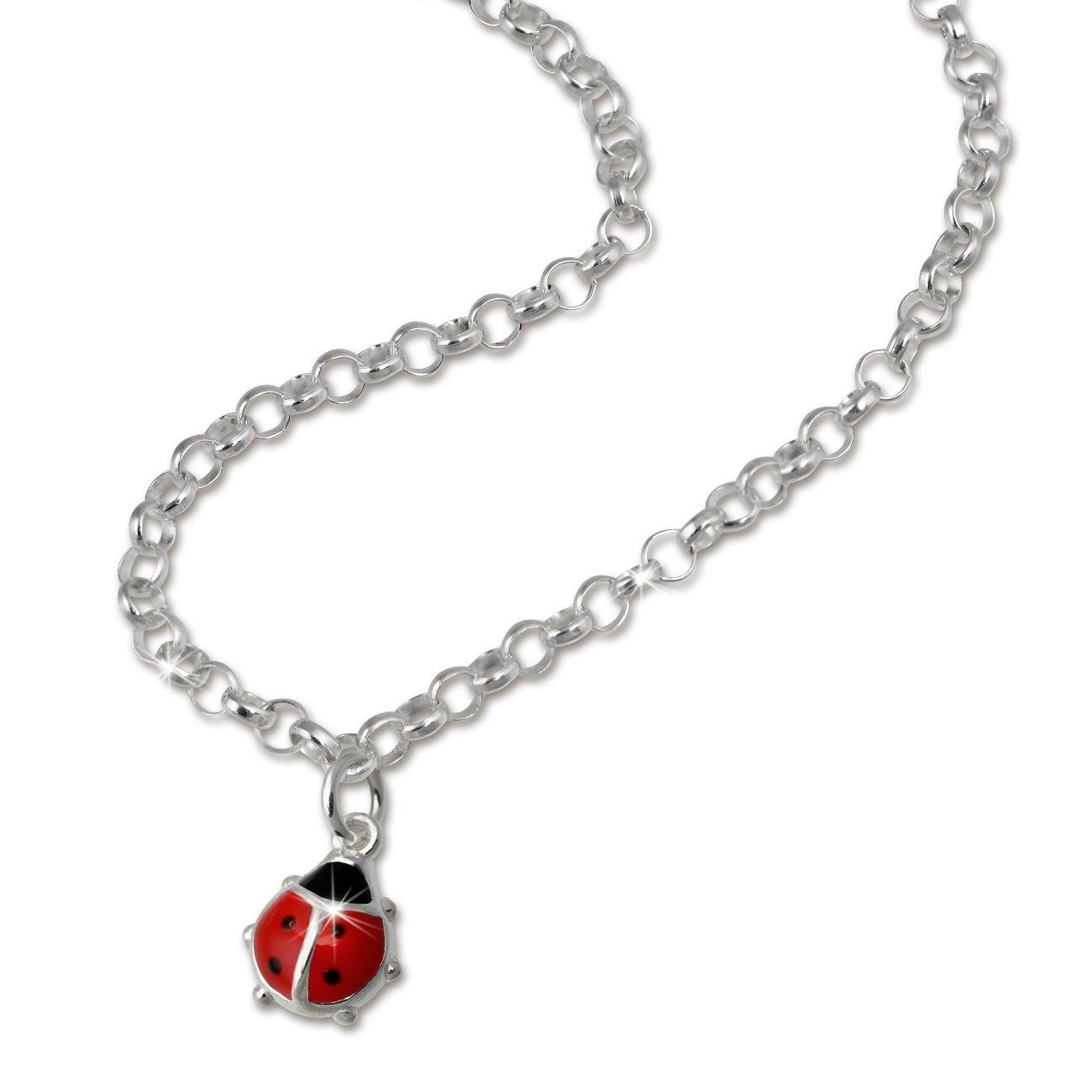 SilberDream Marienkäfer-Kette für Kinder Halskette Kinderschmuck aus 925 Sterling Silber SDK01038 B004PHS89E