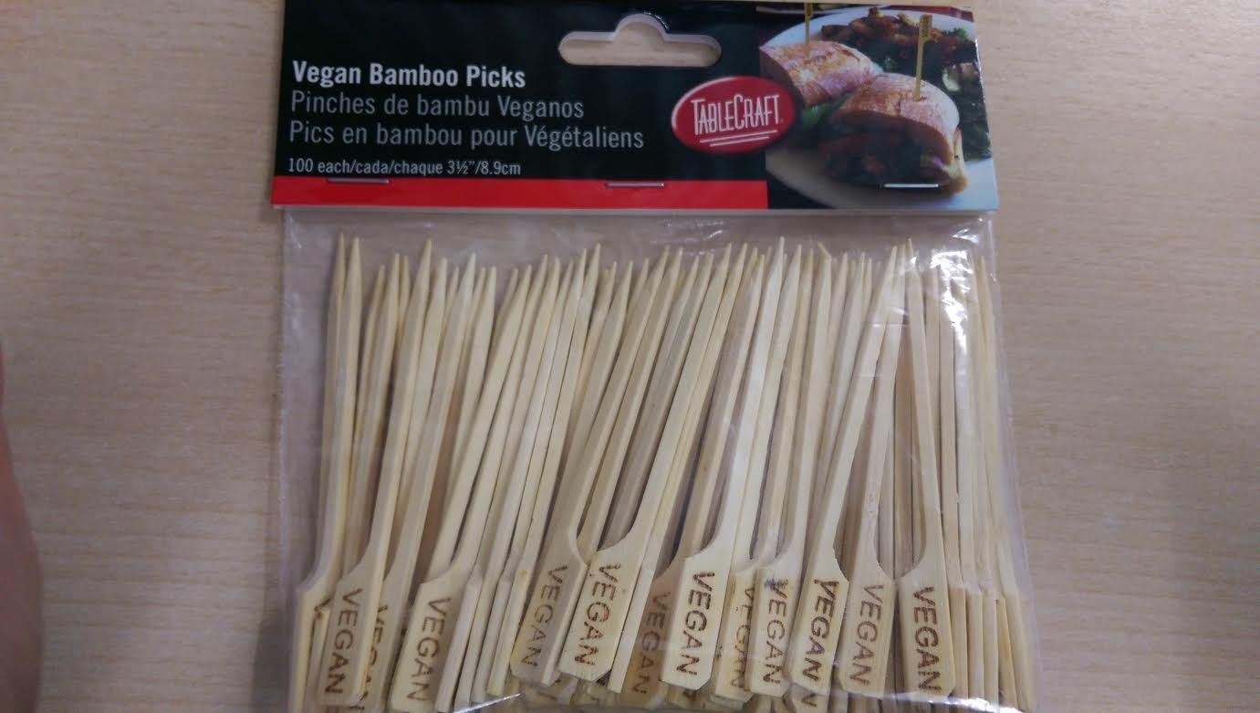 100 pack Vegan Wooden/Bamboo Skewers 9cm