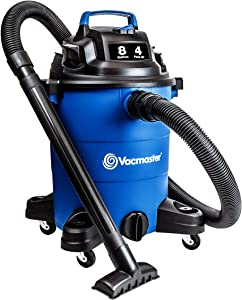 Vacmaster Wet Dry Vacuum Cleaner Lightweight Powerful Suction Shop Vacs with Blower Function for Dog Hair,Garage,Car,Home & Workshop (4 Peak HP 8 Gallon)