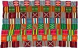 Fair Trade African Ghana Kente Cloth, 60'' Across Approximately, 7723