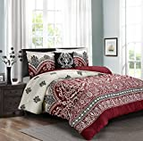 Pure Comfort Luxury Brushed Microfiber 4 Pieces Comforter Set, Queen, Chateau, 4
