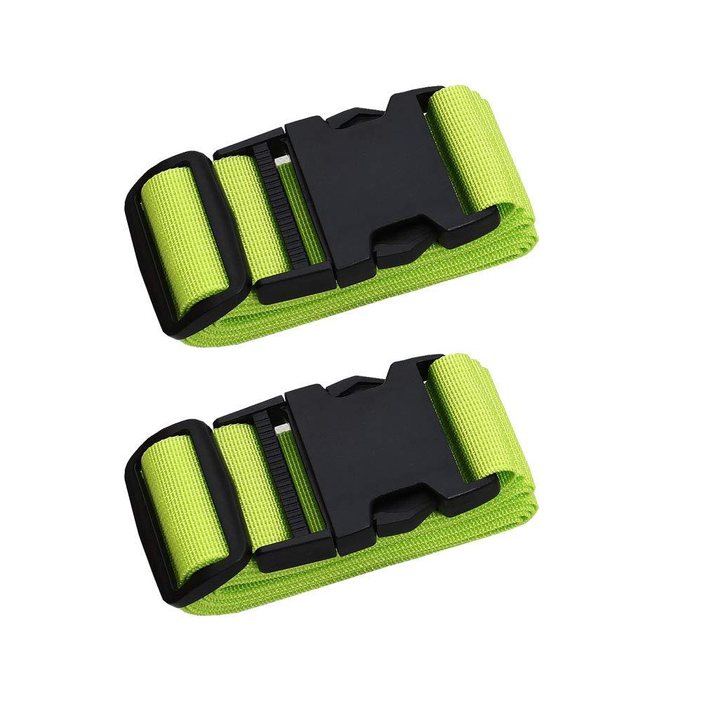 2Rose red 43-78 Adjustable Adjustable Travel Luggage Strap Nylon Suitcase Belt Luggage Tage Set to Keep Your Luggage Organized and Secure