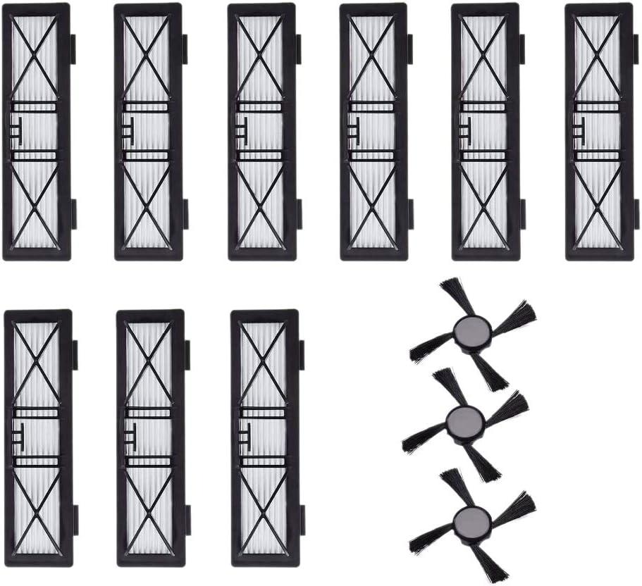 Katigan Filtro Hepa 9X Cepillo Lateral 3X para Neato Botvac D3 D4 D5 D6 D7 D70 D75 D80 D85 Botvac Conectado 75E 80 85 Cepillos Filtros Piezas