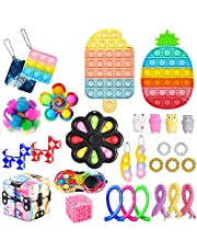 29 Stks Sensory Fidget Speelgoed Set, Goedkope Fidget Pop Bubble Toys Pack, Nieuwigheid Stress Relief Anti-Angst Speelgoed Kit voor Jongens Meisjes Aulism