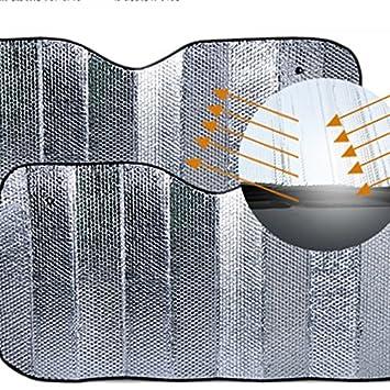 Reflectante UV Cubierta Protectora para Ventana Delantera Plegable Aluminio para Coches universales Lumpur Parasol para Parabrisas Delantero de Coche Visera para Parabrisas de Coche
