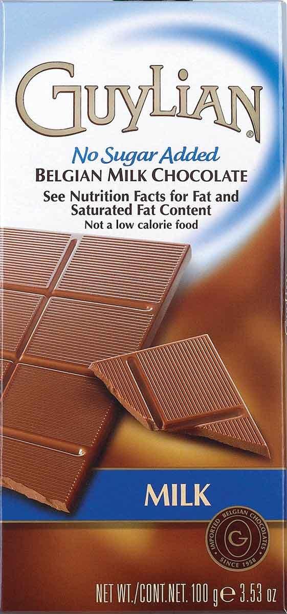 Guylian No Sugar Added Belgian Milk Chocolate Bar, 3.5 Ounces (Pack of 12) by GuyLian (Image #1)