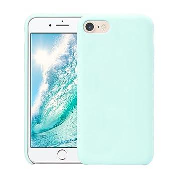 Funda iPhone 8, Fuleadture iPhone 7 Slim Líquido de Silicona Gel Carcasa Alta Calidad Anti-Rasguño y Resistente Huellas Dactilares Totalmente ...