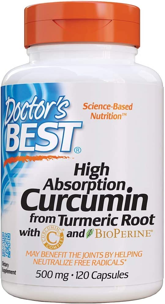 Doctor's Best DRB-00107 High Absorption Curcumin From Turmeric Root with C3 Complex & BioPerine 500mg (120 Capsules): Health & Personal Care