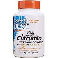 Doctor's Best | Curcumine complexe | C3 et BioPerine | 500 mg | 120 comprimés végétales | sans gluten | sans soja
