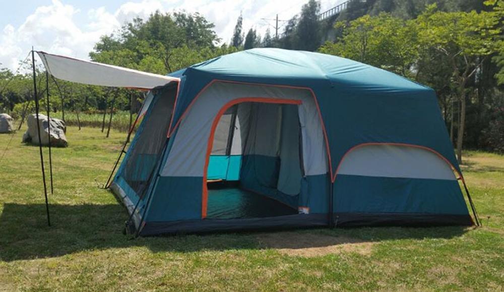 Outdoor Camping Sommer Doppel Skin Sonnenschutz Regenschutz wasserdicht Sun Shelter / Familie Zelt / Beach Zelt Geeignet für 8-10 Person 420  305  215 cm