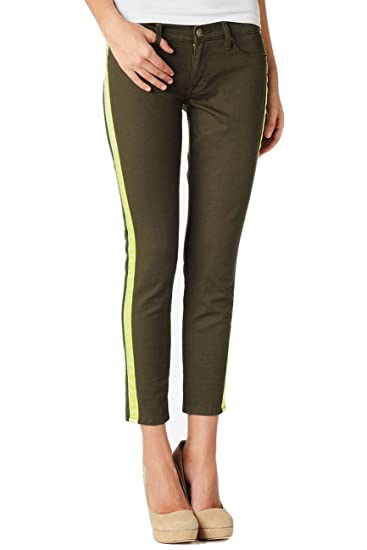7095ae1ce80 Image Unavailable. Image not available for. Color: Hudson LouLou Tuxedo  Crop Super Skinny Glow Stripe Jeans Denim ...