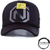 FashMade NPC Printed Halfnet Cap for Men/Boys & Women/Girls Black