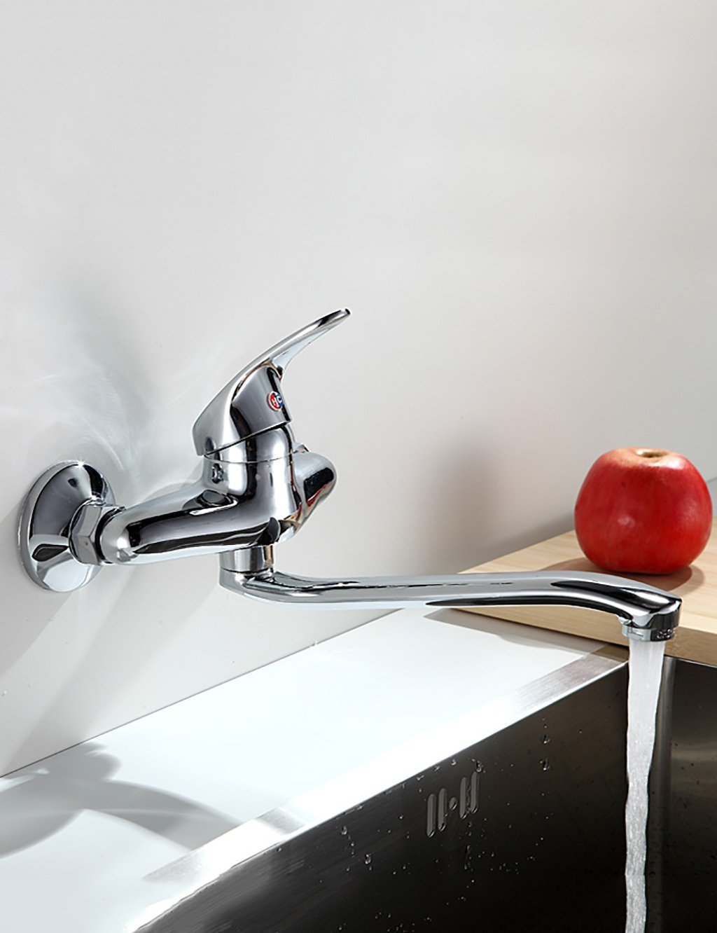 Sun LL European Style Household Kitchen Into The Wall Faucet Hot And Cold redate Single Head Double Hole Balcony
