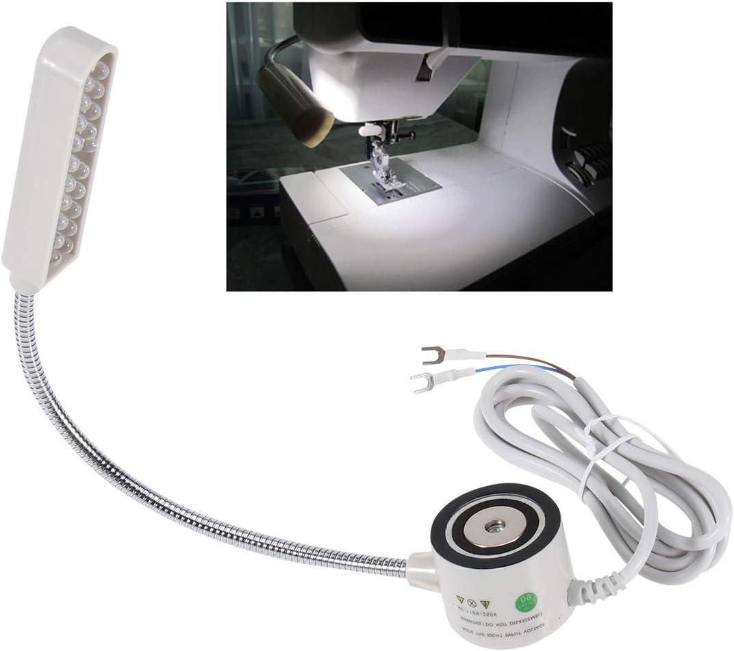 Pixnor - Flexo de 20 luces LED blancas para máquina de coser, 220 ...
