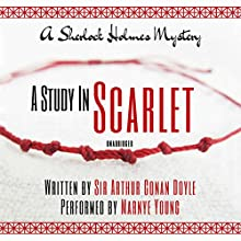 A Study in Scarlet Audiobook by Sir Arthur Conan Doyle Narrated by Marnye Young
