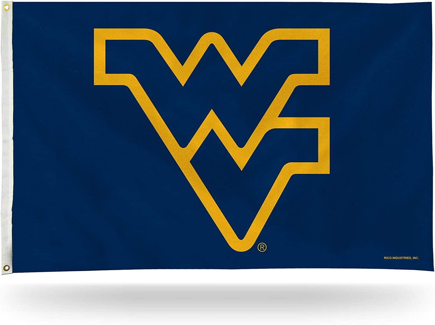 NCAA Rico Industries 3-Foot by 5-Foot Single Sided Banner Flag with Grommets, West Virginia Mountaineers