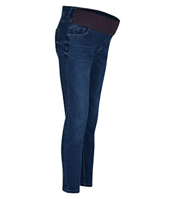 4af520aa9c6a6 Ex UK Famous brand Maternity Slim Skinny Under Bump Stretchy Jeans Trousers  Black Navy Blue 8-20 (20, Blue): Amazon.co.uk: Clothing