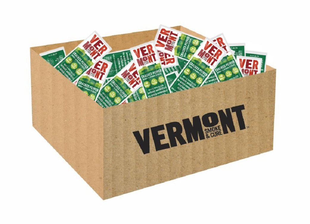 Vermont Smoke & Cure Mini Meat Sticks - Antibiotic Free Beef & Pork - Gluten-Free Snack - Paleo and Keto Friendly - Original Flavor - .5oz Stick - 192 Count