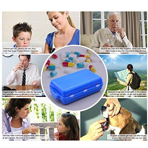 Pill Case, Medicine box, Pill Dispenser, Pill Organizer Freehawk® Daily Pill Reminder Box Storage System with 5 Alarms Medicine Travel Kit Elderly Pills Kit Medical Kit by Freehawk (Image #6)