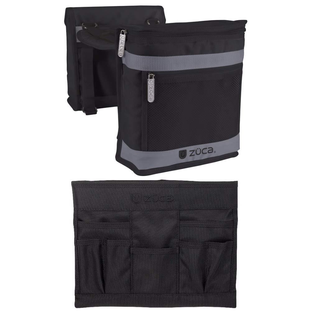 ZUCA Pro Stylist Kit - Beauty Caddy (Black/Slate Gray) and Stylist Pouches Rolling Bags