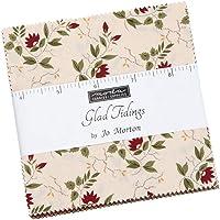 Glad Tidings Charm Pack by Jo Morton; 42-5 Inch Precut Fabric Quilt Squares