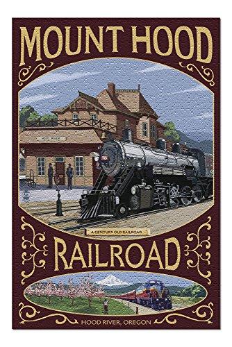 Hood River, Oregon - Mt. Hood Railroad (20x30 Premium 1000 Piece Jigsaw Puzzle, Made in USA!)