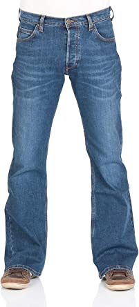 mens jeans w36 short leg boot cut lee