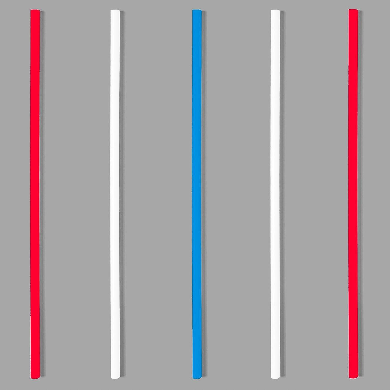 "Soodhalter Sip-Stirs 5.5/"" Drink Stirrers 100 Red Green Blue Cocktail Straws"