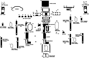 Rvinyl Rdash Dash Kit Decal Trim for Jeep Wrangler 2007-2010 - Camouflage (Digital)