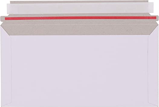 Kompaktbrief Gro/ßbrief Umschl/äge DIN Lang Pappe Karton Selbstklebend weiss A1 B2 Vollpappe 400