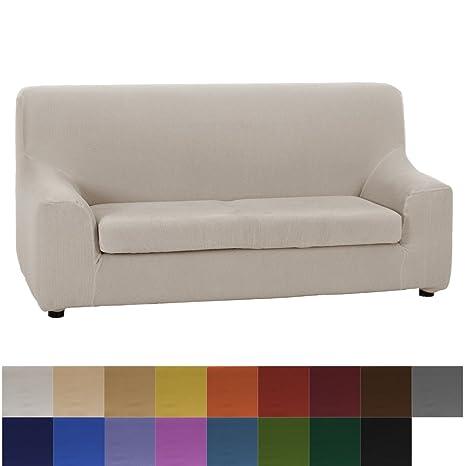 Jarrous Funda de Sofá Elástica con el Cojín Separado Modelo Camden, Color Burdeos, Medida 3 Plazas – 180-240cm