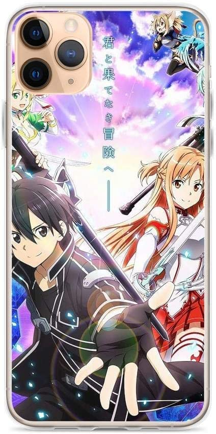 Cedahar Compatible with iPhone 6 Plus/6s Plus Case Sword Art Online Anime Poster Kirito Asuna Leafa Pure Clear Phone Cases Cover