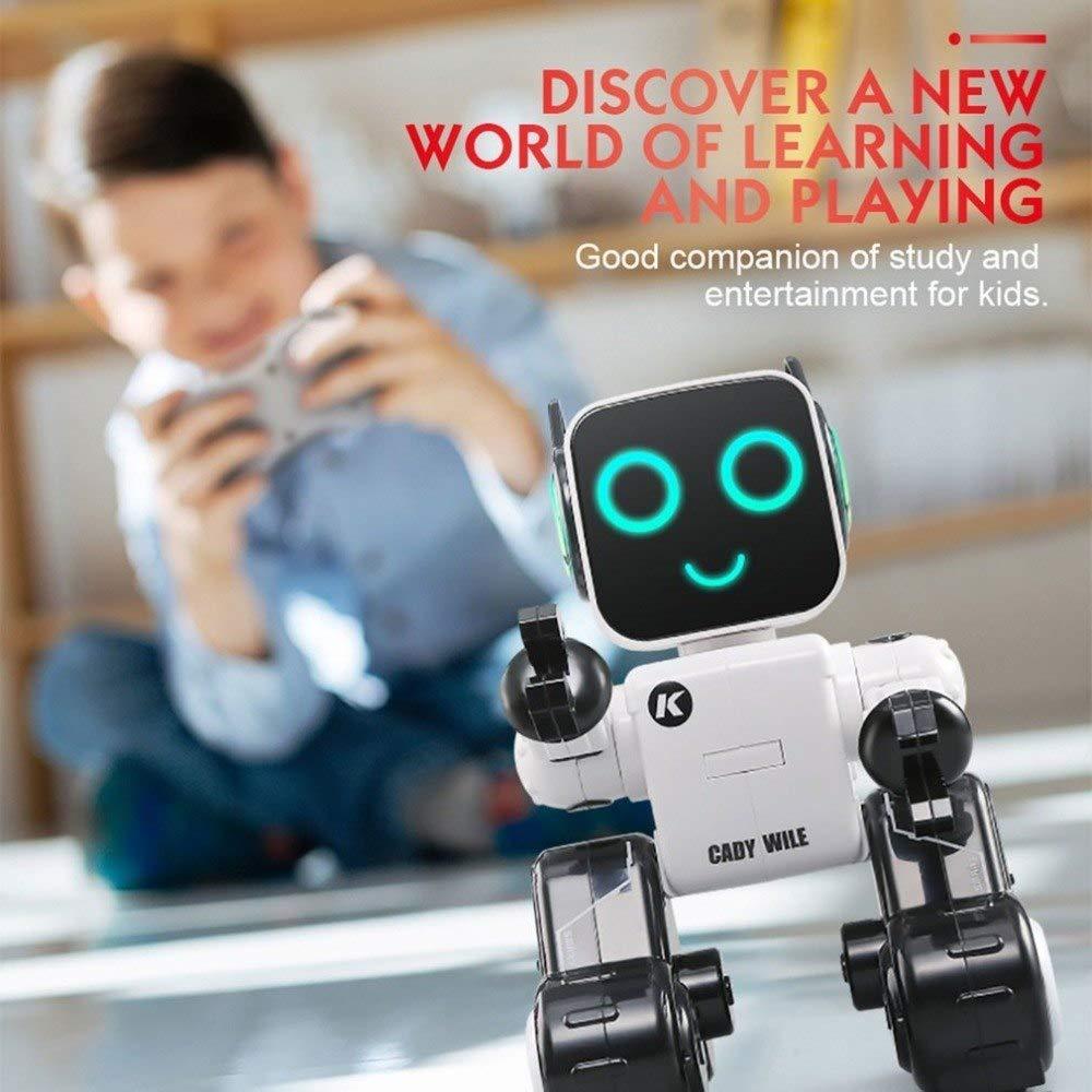 RC 多機能 音声起動 インテリジェント ロボット バギー 4ホイール リモート 2.4g LED 車 ラジコン おもちゃ S-001 B07NTYD9S5