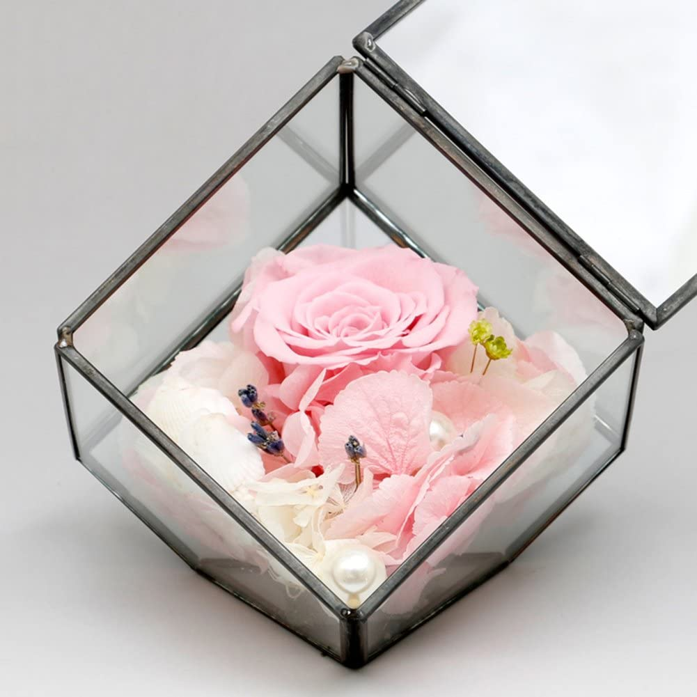 Immortal Flower Rose Glass Gift Box Diy Card Making Ideas Flower Gifts G Amazon Co Uk Kitchen Home