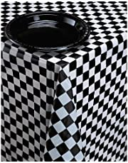 Creative Converting 39189 Tablecover, Black/White/Multicolor
