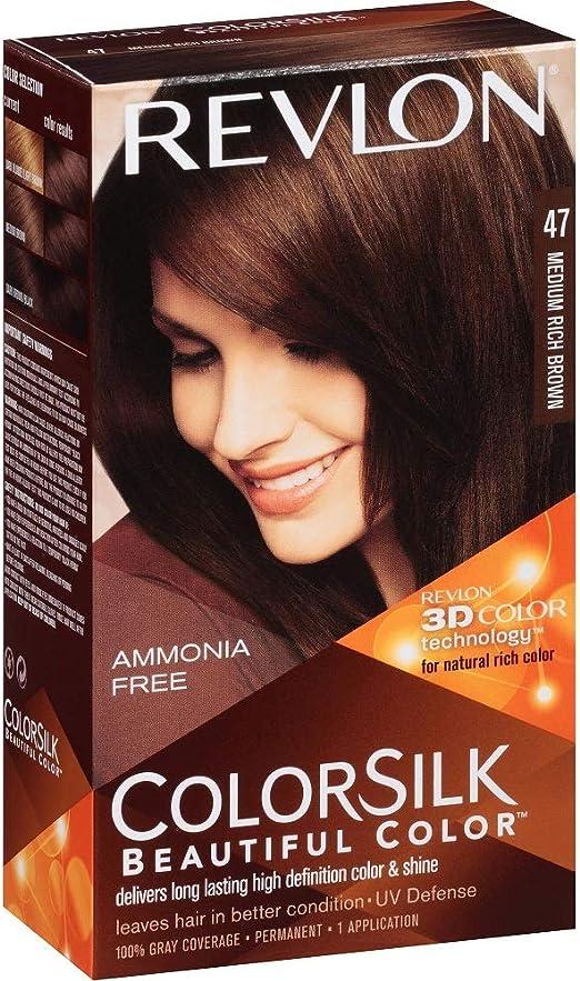 Revlon Colorsilk 47 tamaño mediano Rich Marrón Color ...