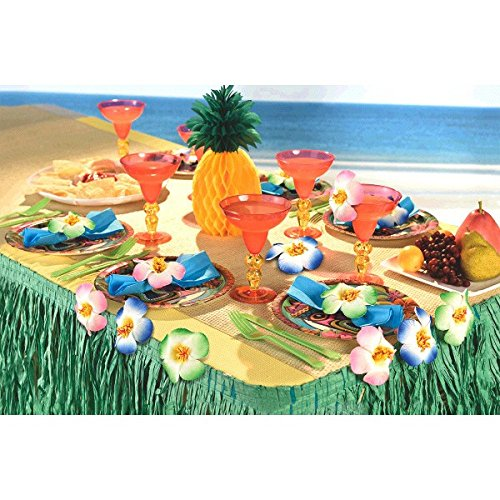 Amscan Hawaiian Summer Luau Party Hibiscus Clip Decoration (Pack of 6), Multicolor, 3""