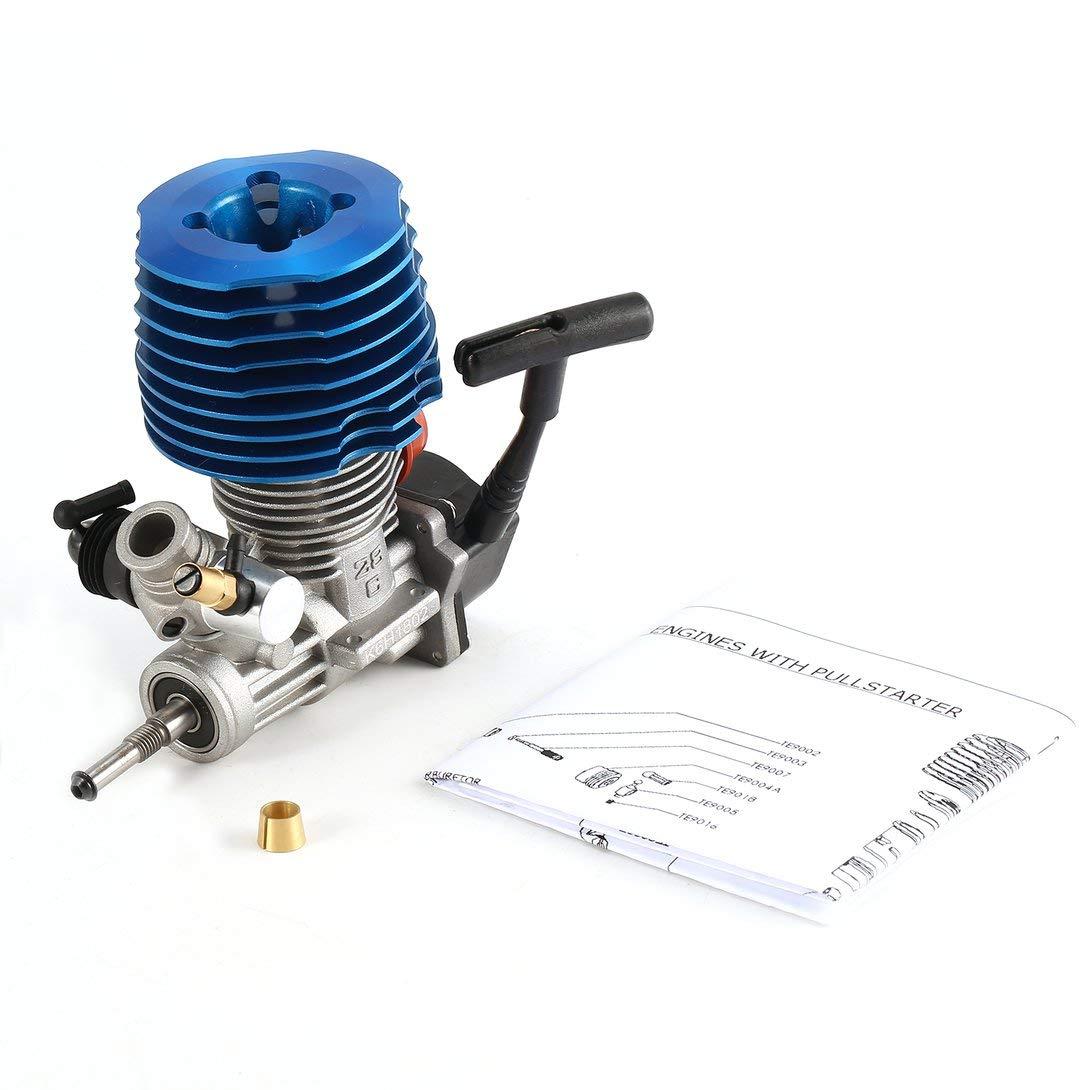 Swiftgood RCカー1:8バギーモンスタートラギーニトロエンジンSH 28 CXPエンジンM28-P3 4.57CC 3.8hp 33000 rpmサイドエキゾーストプルスターター B07JMCDK42