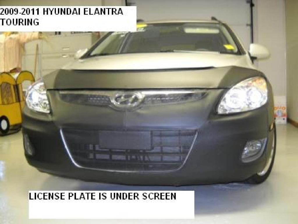 Lebra 2 piece Front End Cover Black Fits HYUNDAI ELANTRA Touring 2009-2012 Car Mask Bra