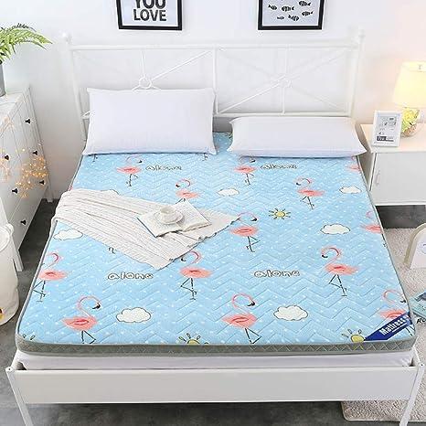 ASDFGH Franela Respirable Colchón Tatami, Que Antideslizante Colchones de futon Estudiante Dormitorio Futon colchón Plegable