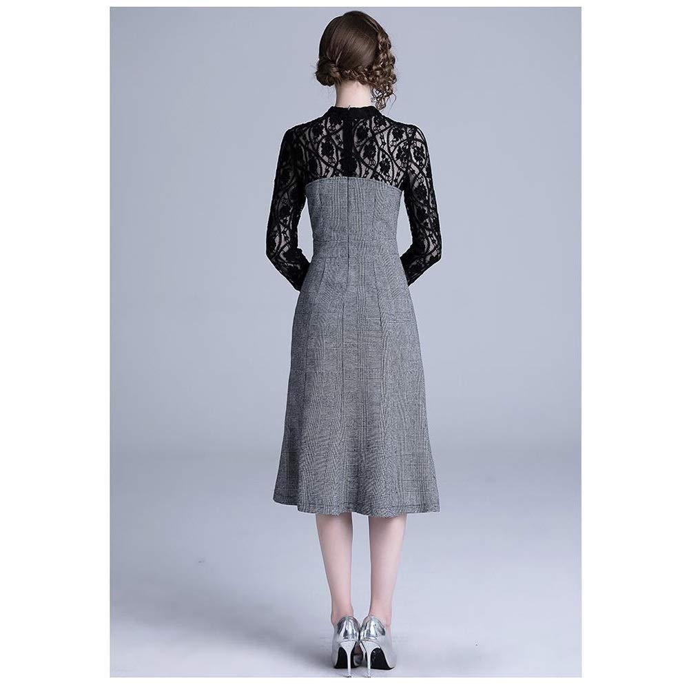 ZSRHH-Falda Vestido de Mujer Tatuaje de Costura Simple del cordón ...