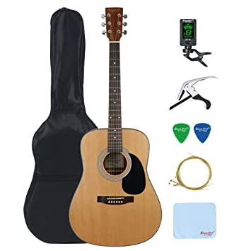 Professional Acoustic Guitar Bundle, Strong Wind 41 inch Full Size ...