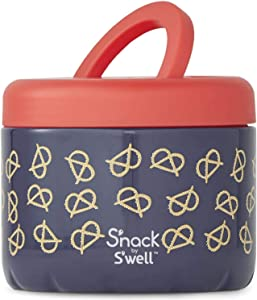 S'well 24 Fl Oz-Pretzels-Double-Layered Insulated Bowls Keep Stainless Steel Food Container, 24oz