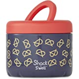 S'nack by S'well Stainless Steel Food Container - 24 Fl Oz - Pretzels - Double-Layered Insulated Bowls Keep Food and Drinks F